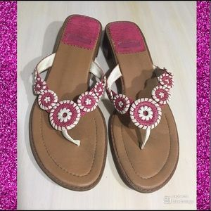 Shoes 2️⃣/💲2️⃣0️⃣!!!!!!!!! Pink and White Sandals